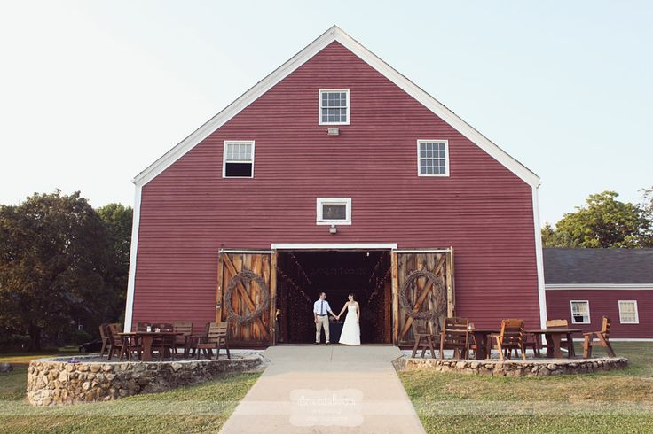 Brooksby Farm Smith Barn - Awesome bride and groom portrait at the red barn...