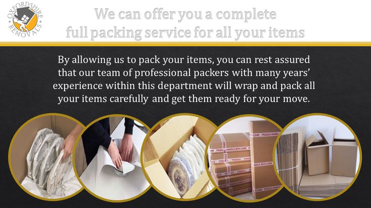 Oxfordshire Removals. We can offer you a complete full packing service for all your items.