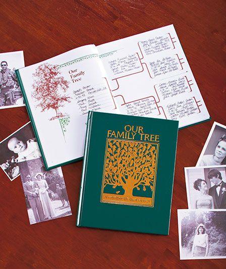 family tree book ideas