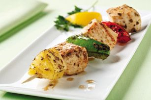 #kraftrecipes Pineapple-Chicken Kabobs recipe