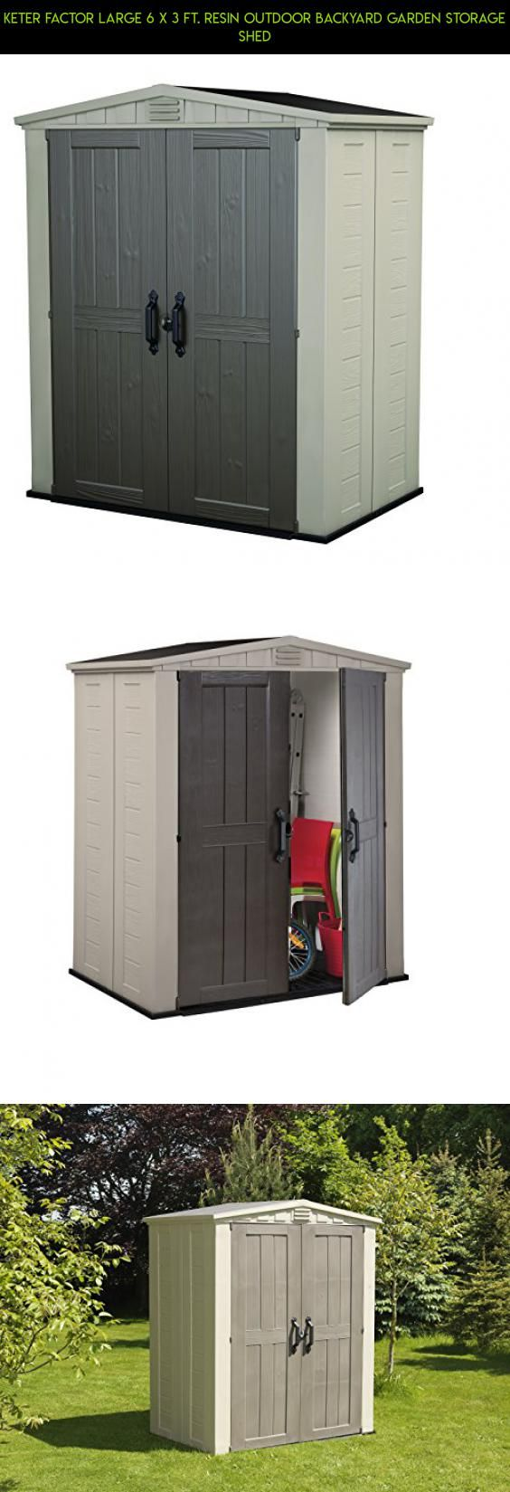 keter factor large 6 x 3 ft resin outdoor backyard garden storage shed storage - Garden Sheds 6 X 3