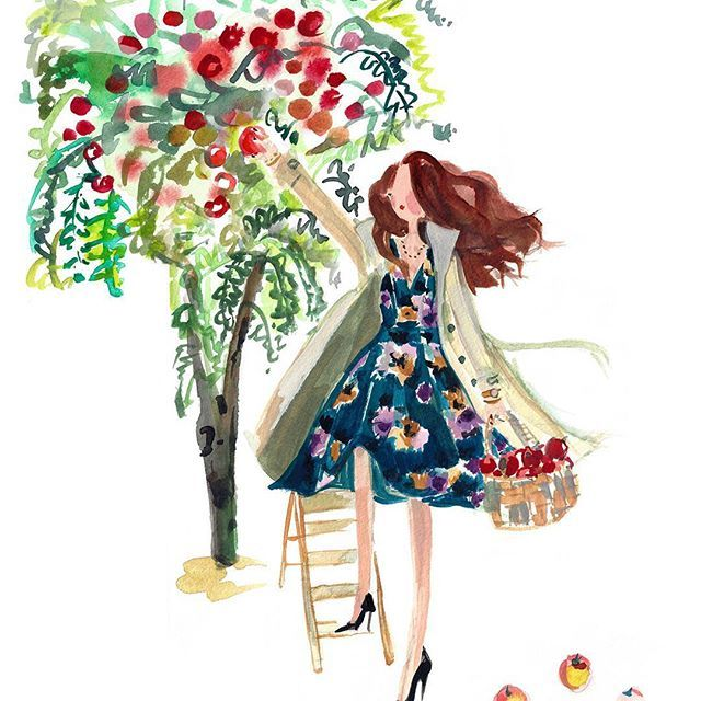 Apple Picking: A seasonal project by @marnanidesign for women's retailer @dressbarn #women #fashion #label #retail #shopping #online #painting #concept #designers #exclusive #stylish http://ow.ly/Tm73305UXSI