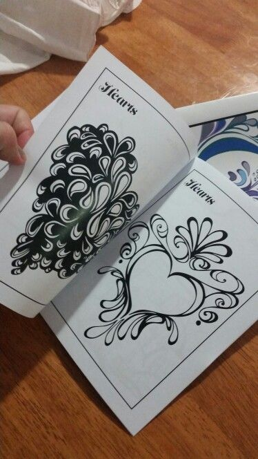 Hearts Colouring in pages by Joanna Osborne
