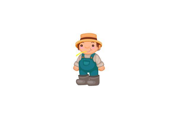 Farmer Vector Graphics #farmervector #vectorpack http://www.vectorvice.com/farm-vector