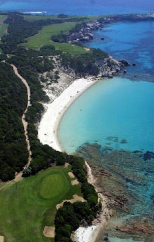 Spérone beach, in south Corsica