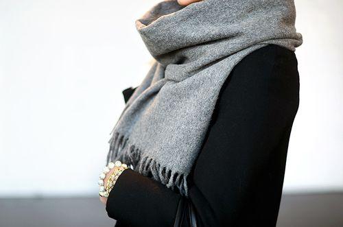 Acne scarf grey melange