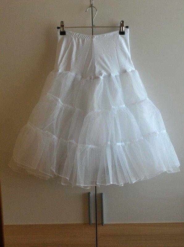 91ab843ba1 ... spodnička pod sukni/šaty - Bohatá bílá tylová spodnička (třípatrová a  dvojvrstvá) s lemovaným okrajem a spodní pol… | Vinted / VotočVohoz | Skirt…