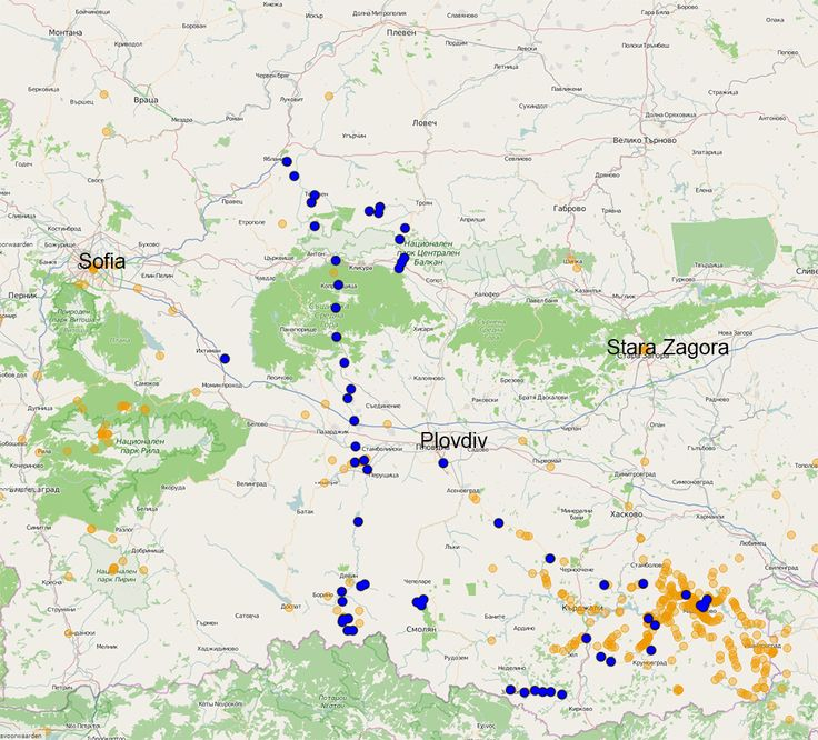 In May 2015 we had a very successful bird count trip through Bulgaria. We counted birds at 61 points (blue dots in the map), many of them new for the project (previous points are orange). We counted 125 species of birds. All together, including birds seen outside the counts, we saw and heard 152 species of birds. Want to join us, go to http://www.thehabitatfoundation.org/en/content/bird-survey-bulgaria.
