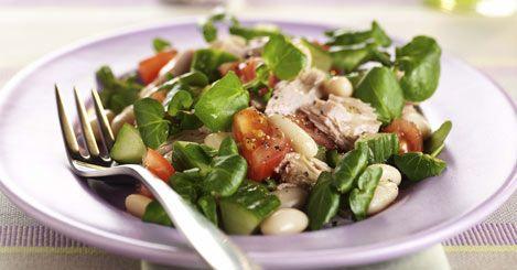 Tuna and White Bean Salad 127 calories
