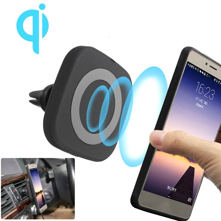 Qi Wireless Magnetic Air Vent Holder Charger Stand for Samsung S8 Plus S7 Sale - Banggood.com