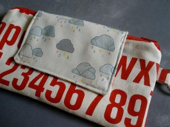 clutch purse by Pocket CarnivalRain Drop