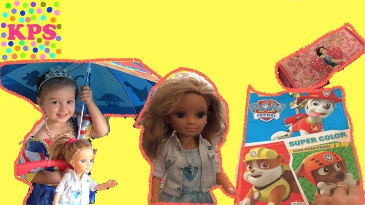 Собираем в школу Куклу НЭНСИ разукрашка Щенячий Патруль Игры для девочек...