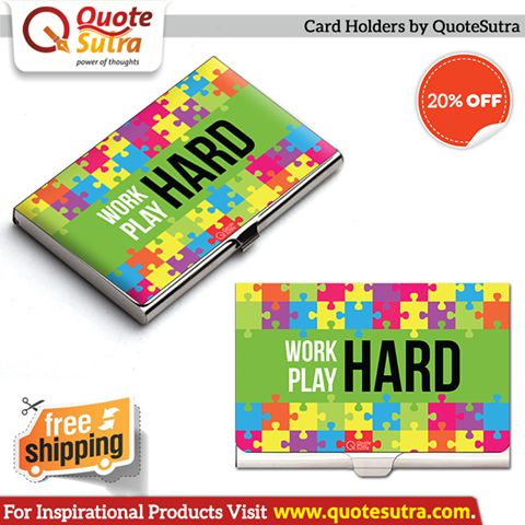 Life is too SHORT to use boring accessories. Buy Elegant & Inspiring Card Holders from www.quotesutra.com now & Get Free Shipping + One Free Gift with all orders!