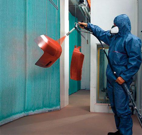 Zincgal trabajador con pintura en polvo