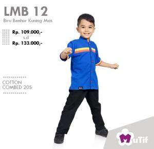 Baju Anak Koko Little Mutif Boy LMB-12 Navy - Size 10