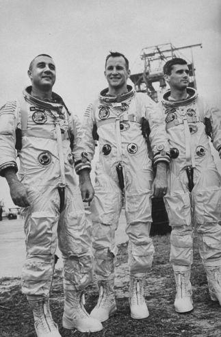 Apollo 1 Astronauts (l-r) Gus Grissom, Ed White, And Roger ...