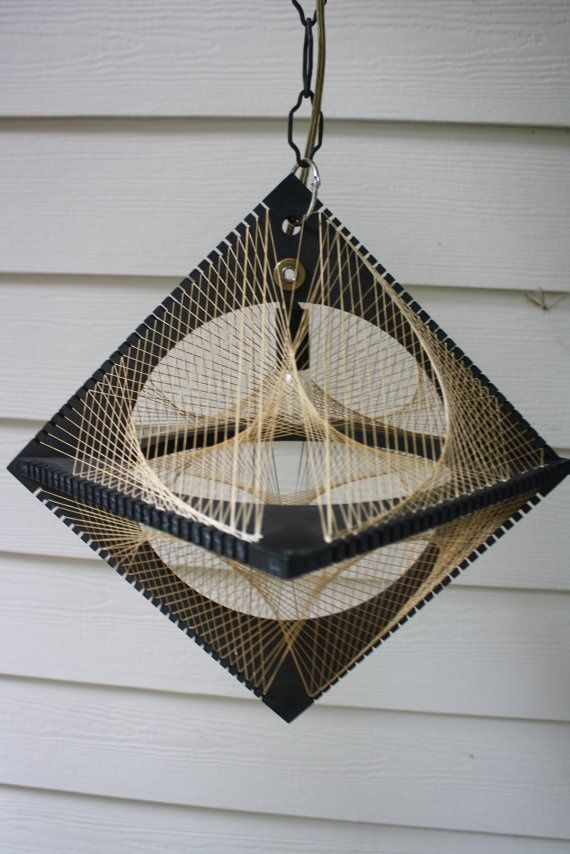 Retro String Art Hanging Lamp Light Curvillusion. Awesome Lamp! I ...
