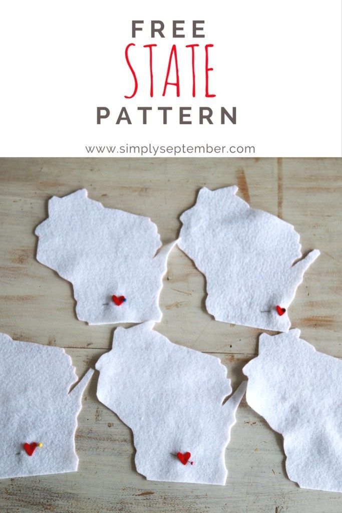 "FREE state pattern to be used for ""home is where the heart is"" pillow and more!"
