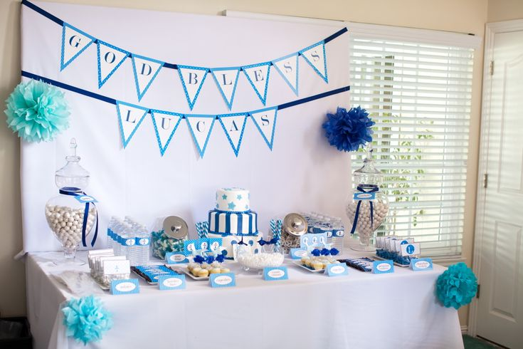 Cake Table Decoration For Christening : The Sugar Bee Bungalow: {Party Bee} Client Feature: Lucas ...