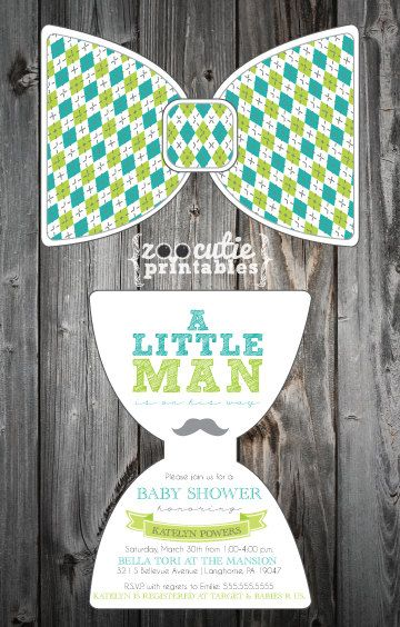 DIY+Bow+Tie+Invitations+by+ZooCutiePrintables+on+Etsy,+$12.00