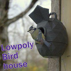 Maison d'oiseaux Lowpoly