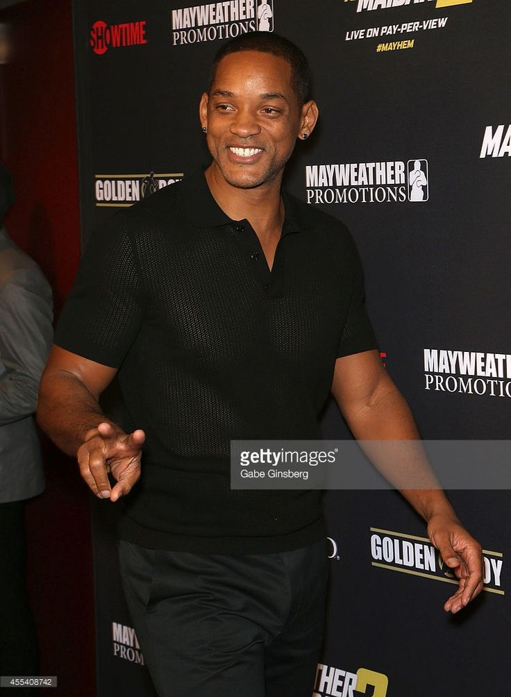 Actor Will Smith arrives at Showtime's VIP prefight party for 'Mahem: Mayweather vs. Maidana 2' at the MGM Grand Garden Arena on September 13, 2014 in Las Vegas, Nevada.