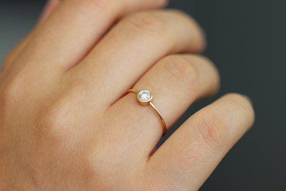 Diamant-Verlobungsring einfache Verlobungsring 02 von artemer