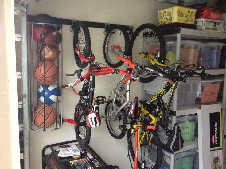 Bike U0026 Ball Storage For Garage. #Rubbermaid #FastTrack #garage #storage #