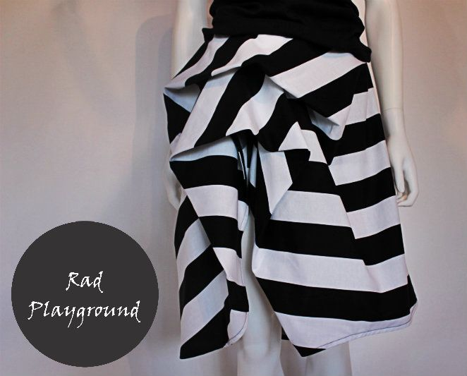 Rose stripes skirt - from rad playground