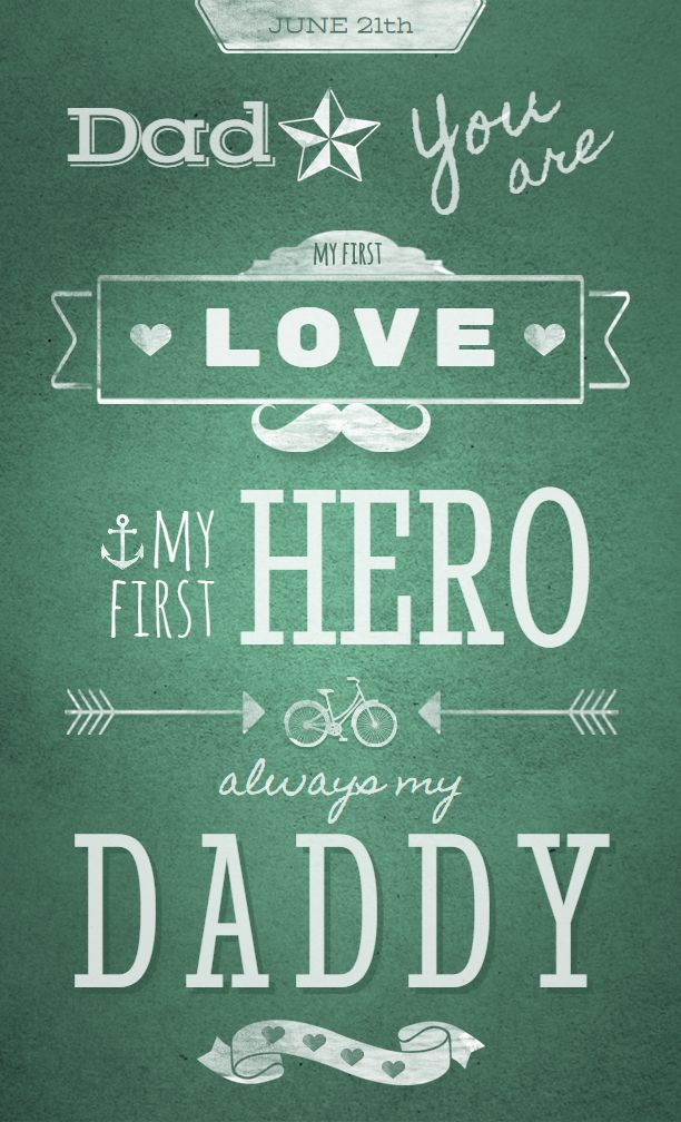 Fully editable Father's Day greeting card