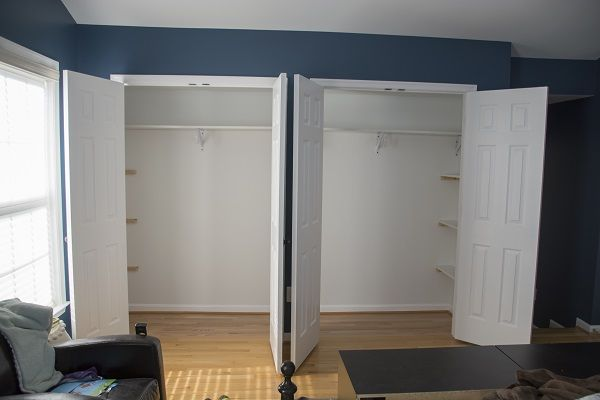 New Double Door closet in Master Bedroom