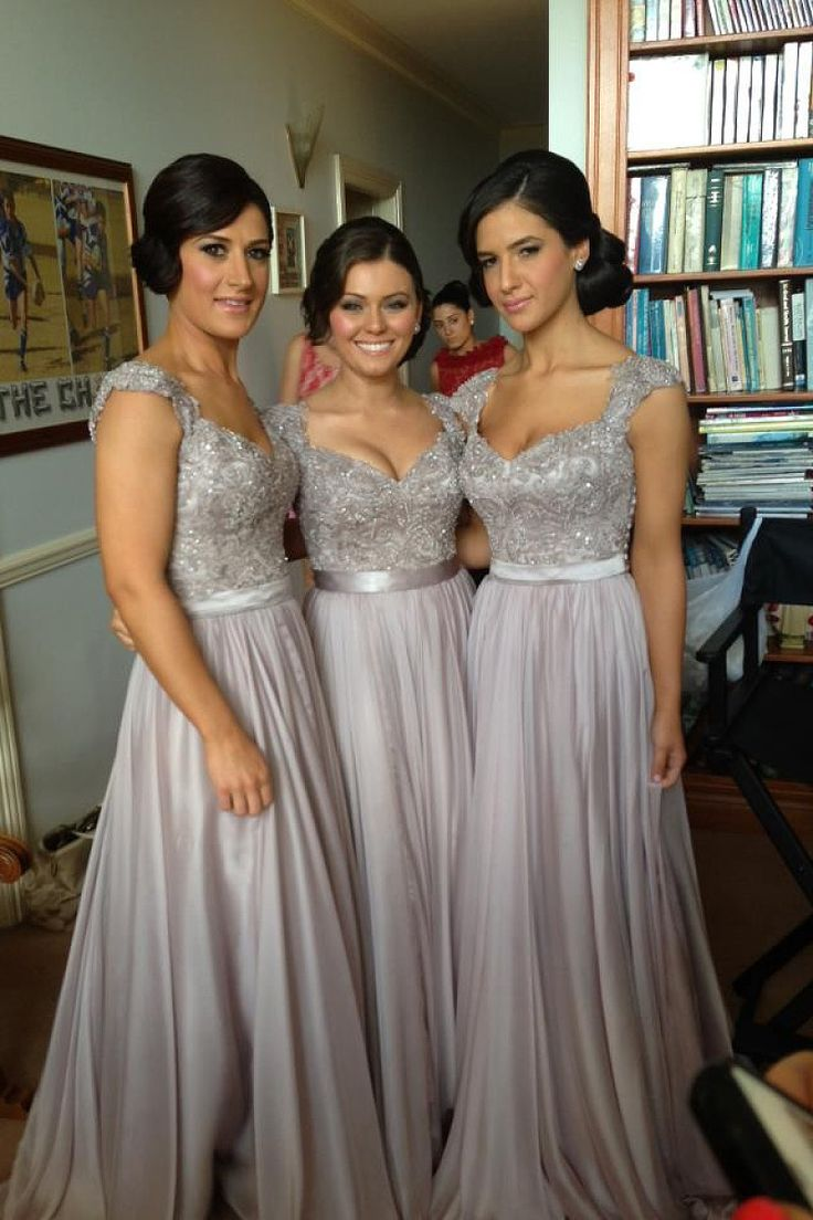 59 best bridesmaid dresses images on pinterest marriage 2016 v neck chiffon lace sequins beads bridesmaid dresses by okdress uk ombrellifo Image collections