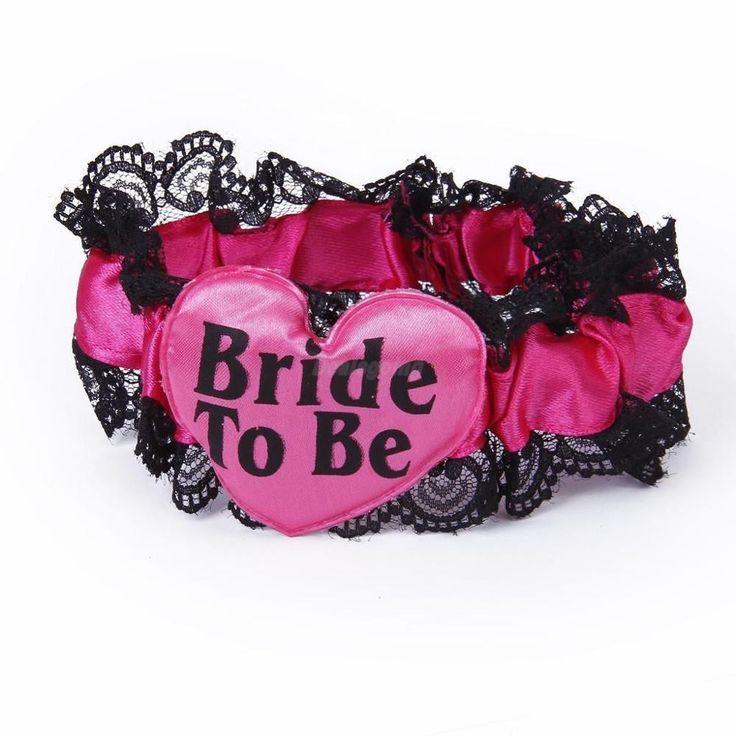 Sweet Bride to be ribbon garters wedding party favor Bachelorette supplies hen night