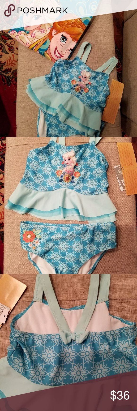 Frozen Beach towel and 2 pc swimsuit 9/10 All NWT!  You get all of this----- Frozen large beach towel and 2 pc. Frozen Bathing Suit in size 9/10 girls.  Great for Easter basket, birthday gift etc.  Suit has UPF50+ on label. Disney Swim Bikinis