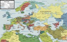 Карта Европы 2100 года, глазами словацкого художника Мартина Варжика (Martin Vargic), который попытался учесть возможные природные и политические катаклизмы. |
