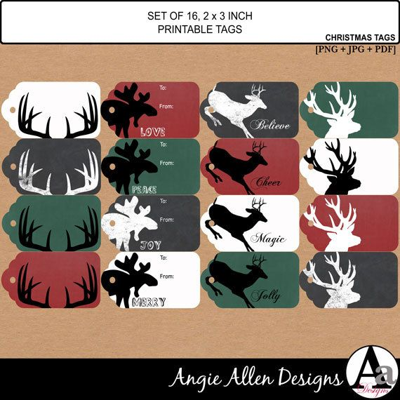 71 best christmas patterns images on pinterest christmas printable christmas tags set 16 holiday gift by angieallendesigns 449 negle Choice Image