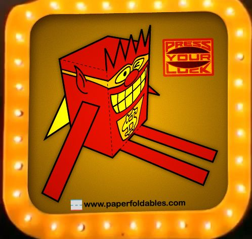 """""""WHAMMY!"""" Paper Foldable (from 80's game show, """"Press Your Luck"""")!"""
