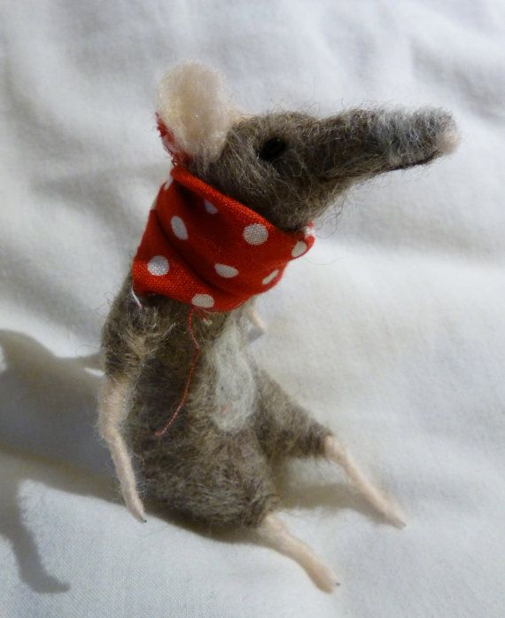 Scout the Mouse: Needle Felted Character Doll