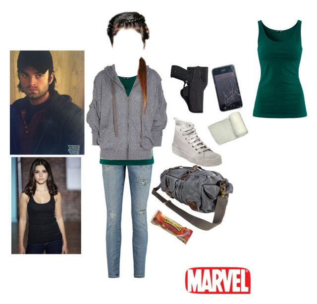 Christina Richie by lolloki on Polyvore featuring polyvore, fashion, style, H&M, adidas, Current/Elliott, Ann Demeulemeester, VIPARO, Holster, Marvel Comics and clothing