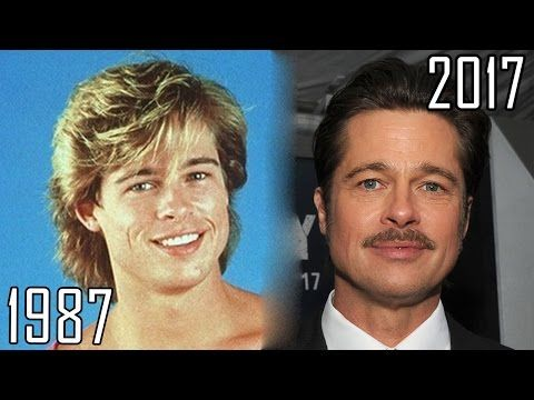 Brad Pitt (1987-2017) all movies list from 1987! How much has changed? Before and Now! - YouTube