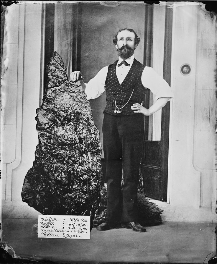 B.O. Holtermann with the Holtermann Nugget, North Sydney  c.1874-1876