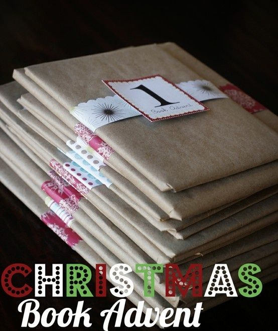 LOVE this idea. Wrap a Christmas book and put it under the tree each morning. You then have a Christmas story to read each day (for as many days as you'd like). Also, a list of great Christmas books for little ones. Our elf brought these last Christmas. After read, we passed it on to someone else. - Click image to find more DIY & Crafts Pinterest pins by lois