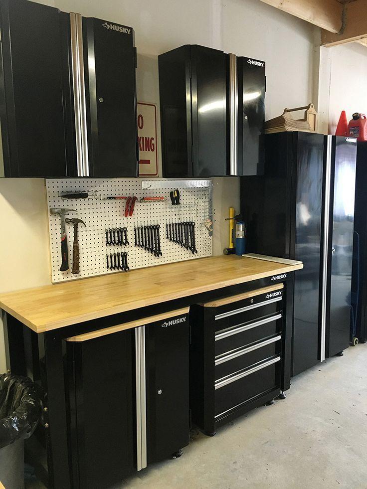 Organized urban garage using Husky garage storage units via Storefront Life