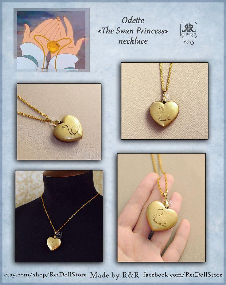 Odette - The Swan Princess - Necklace by Rei-Doll.deviantart.com on @DeviantArt