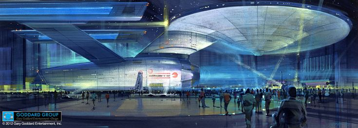 Another image of the Star Trek USS Enterprise Vegas attraction that almost happened