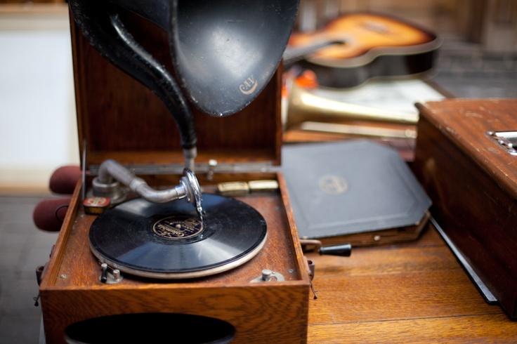 Beautiful vintage gramophone.