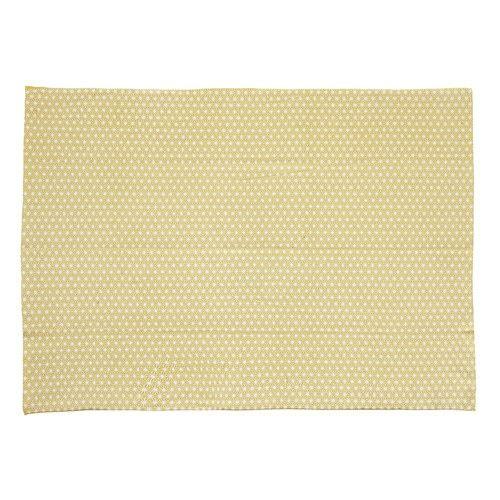 Tappeto giallo senape in cotone 140 x 200 cm ORIGAMI