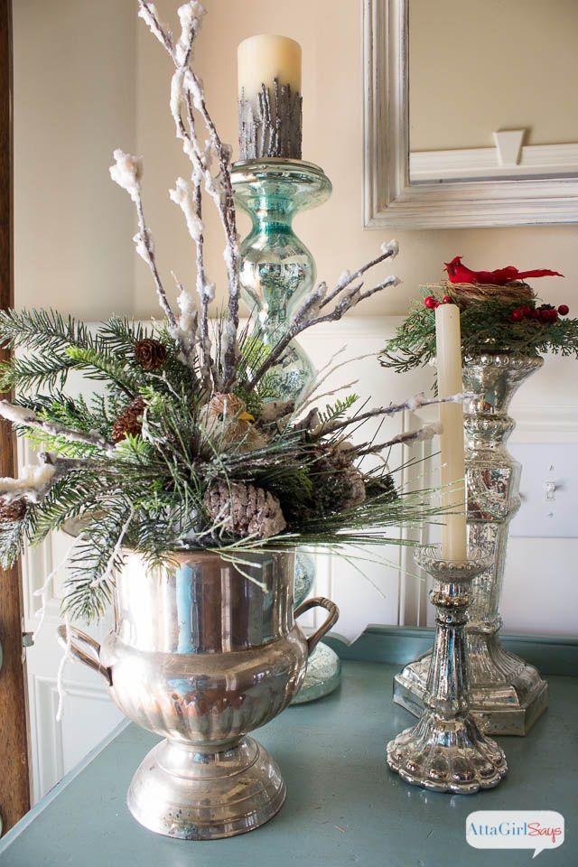 Birds in Winter: Foyer Decorating Ideas