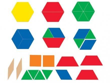 Magnetische geometrische Formen Das Set enthält 47 große, magnethaftende, geometrische Figuren.