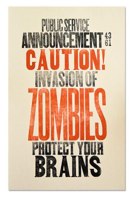Zombie invasion public service announcement - Victoria Abrami